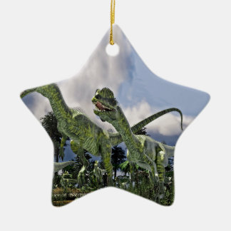 Dilophosaurus Run Ceramic Ornament
