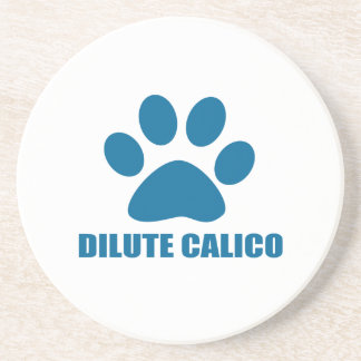 DILUTE CALICO CAT DESIGNS COASTER