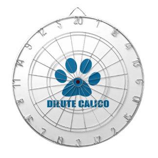 DILUTE CALICO CAT DESIGNS DARTBOARD