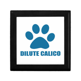 DILUTE CALICO CAT DESIGNS GIFT BOX