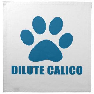 DILUTE CALICO CAT DESIGNS NAPKIN