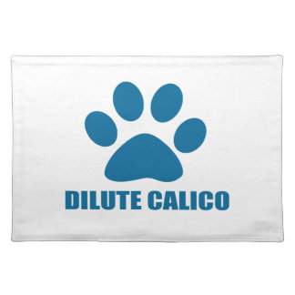 DILUTE CALICO CAT DESIGNS PLACEMAT