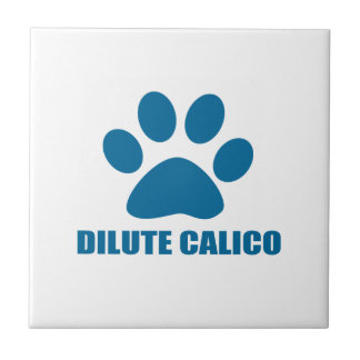DILUTE CALICO CAT DESIGNS TILE