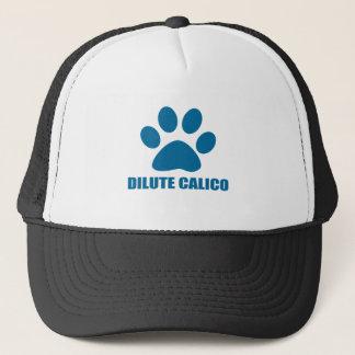 DILUTE CALICO CAT DESIGNS TRUCKER HAT