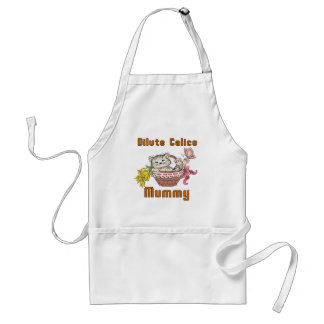 Dilute Calico Cat Mom Standard Apron
