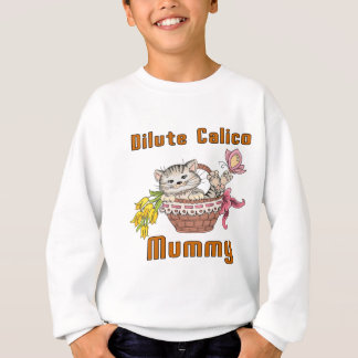 Dilute Calico Cat Mom Sweatshirt