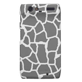 Dim Gray Giraffe Animal Print Motorola Droid RAZR Cases
