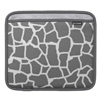 Dim Gray Giraffe Animal Print Sleeves For iPads