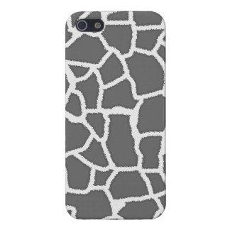 Dim Gray Giraffe Animal Print iPhone 5 Cover
