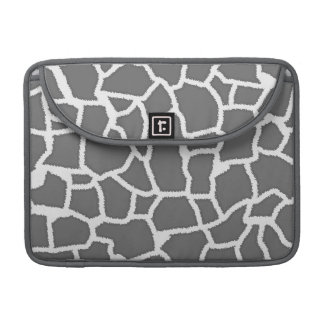 Dim Gray Giraffe Animal Print Sleeves For MacBook Pro
