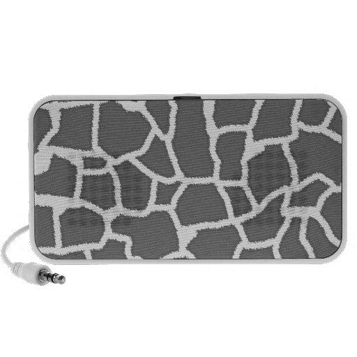Dim Gray Giraffe Animal Print iPod Speakers