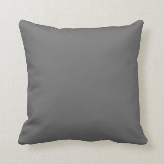 dim grey throw pillow