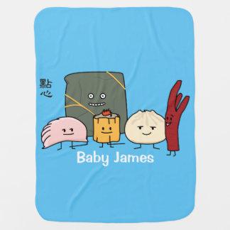 Dim Sum Pork Bao Shaomai Chinese dumpling Buns Bun Baby Blanket