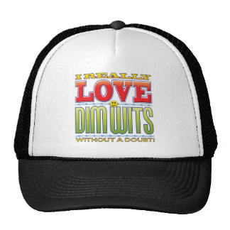 Dim Wits Love Face Trucker Hat