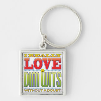 Dim Wits Love Face Key Chains