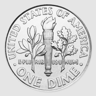 Dime (pack of 6/20) classic round sticker