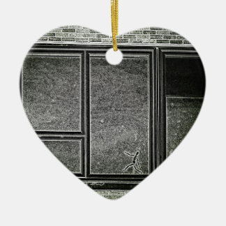 dimension ceramic heart ornament