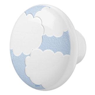 Dimensional Clouds Ceramic Knob