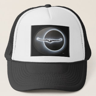 Dimensional eagle trucker hat