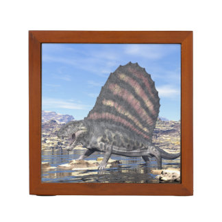 Dimetrodon in the desert - 3D render Desk Organizer