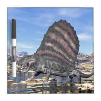 Dimetrodon in the desert - 3D render Dry Erase Board