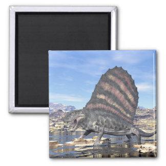 Dimetrodon in the desert - 3D render Magnet