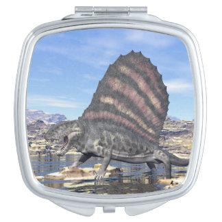 Dimetrodon in the desert - 3D render Makeup Mirror