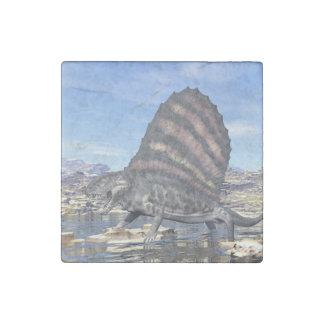 Dimetrodon in the desert - 3D render Stone Magnets