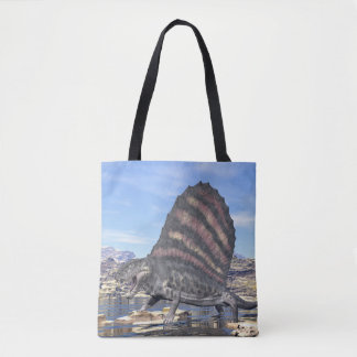 Dimetrodon in the desert - 3D render Tote Bag