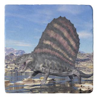 Dimetrodon in the desert - 3D render Trivet