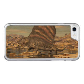 Dimetrodon standing in a pond in the desert carved iPhone 8/7 case