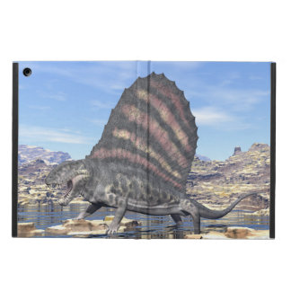 Dimetrodon standing in a pond in the desert iPad air cover
