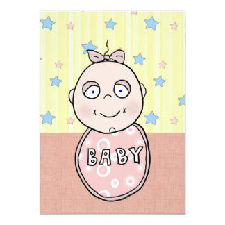 Dimples Baby Girl Baby Shower Invitation