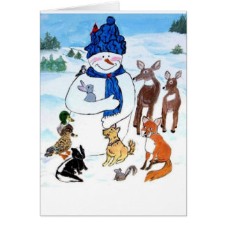 Dimples the Snowman and the Ice Pond Card