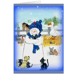 Dimples the Snowman and the Lost Kitten Card