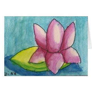 Dina Waterlily Card