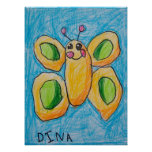 Dina's Butterfly Poster