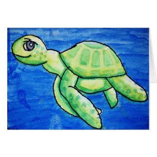 Dina's Sea Turtle Card