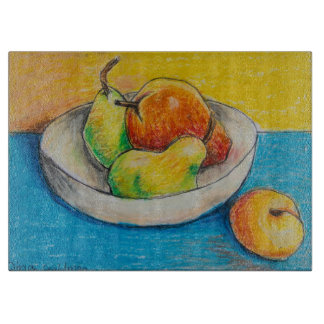 Dina's Still Life Fruit Bowl Cutting Board