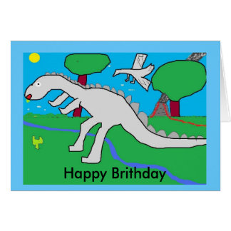 dinasaur, Happy Brithday Card