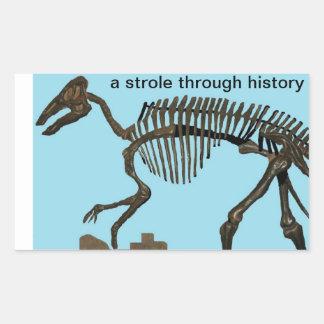 Dinasour sticker, A Strole through History