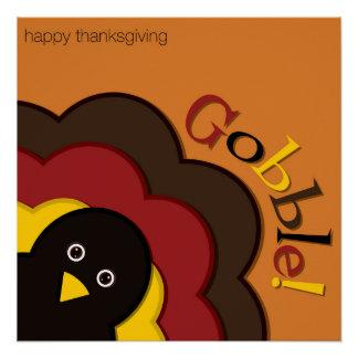 Dinde de dissimulation de thanksgiving perfect poster