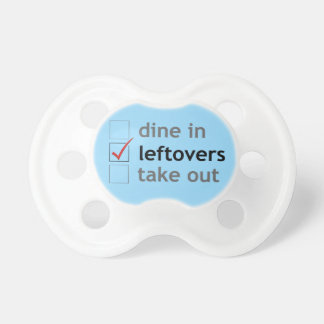 Dine In, Leftovers, Take Out (boy) Pacifiers