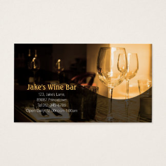 Diner Bar Business Card Wine Glass Table