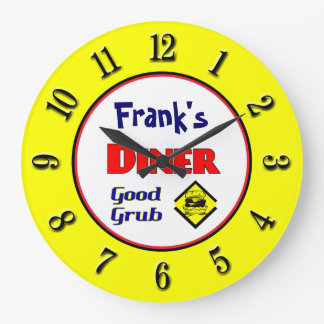 Diner Custom Retro Wall Clock