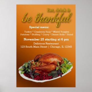Dîner de thanksgiving affiche