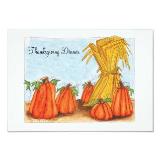 Dîner de thanksgiving d'invitation carton d'invitation 8,89 cm x 12,70 cm