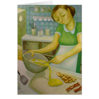 Diner - Eggs and Bacon - by Lora Shelley Card