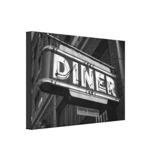 "Diner / Fresh Donuts || Wrapped Canvas (24"" x 16"")"