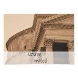 Dîner italien personnalisé de Panthéon de Rome Carton D'invitation 12,7 Cm X 17,78 Cm